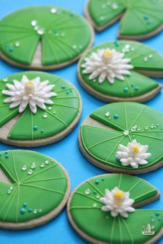 Lily Pad Decorated Cookies
