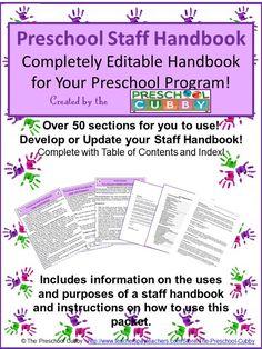 How To Develop Your Own Preschool Staff Handbook