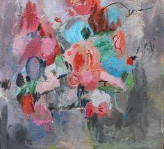 """Saatchi Art Artist Farida Zaman; Painting, """"Burst of roses"""" #art"""