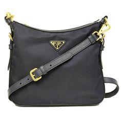 Prada Tessuto Saffian Leather Crossbody Messenger Bag