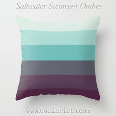 OMBRE Throw Pillow 16x16 Graphic Print Cover Bright by CanisPicta, $35.00