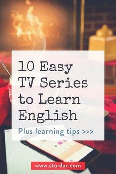10 easy TV series to learn English. It's a great way to improve your listening and vocabulary in English. Use websites like ororo.tv and Netflix to watch the TV series in English with English subtitles Improve English Speaking, Improve Your English, Learn English Words, English Phrases, Learn English Grammar, Learning English Online, English Language Learning, Education English, Teaching English