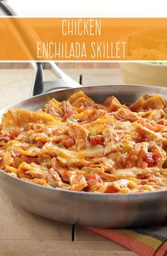 Made with corn tortillas, cooked chicken and zesty RO*TEL tomatoes, our Chicken Enchilada Skillet will add lots of flavor to your next weeknight dinner.