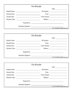 rent payment receipt sample