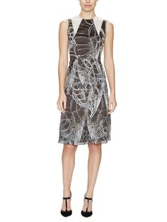 Honor NYC - Silk Organza Butterfly Sheath Dress