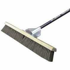 Midwest Rake General Purpose Broom, Straight Blue Aluminum Handle - 24 x 60 Inches by Midwest Rake. $69.99. Lightweight all purpose broom. Bent designed handle for more comfort of use. Has a 24 inch head and 60 inches long. Gusset bracing to prevent twisting. Has a diameter of 1-1/8 inches. 24 Inch head, 60 inch long 1-1/8 inch diameter bent aluminum handle and gusset bracing. Features bent ergonomic handle greatly increases user comfort. Our gusset bracing prevents he...