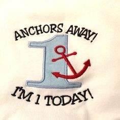 Nautical Baby First Anchors Away Birthday Outfit  by GigglePoo, $10.00