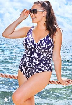 All sights set on a gorgeous vacation! Make sure your bags are packed with the perfect swimsuit from Macy's. This stylish Anne Cole one-piece features a ruched waist for a flattering silhouette and underwire for full support. Click to shop all of Macy's fashionable plus size swimwear.