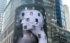"""Aktion """"Art Everywhere"""": 58 Kunstwerke auf Tausenden Plakatwänden: Die Aktion """"Art Everywhere"""" bringt Kunst, die sonst nur im Museum zu bewundern ist, in die Öffentlichkeit. Nach britischem Vorbild sind noch den ganzen August über sind in allen US-Bundesstaaten großformatige Kopien zu sehen. Hier Robert Mapplethorpes Fotografie """"Ken Moody and Robert Sherman"""" (1984) in New York."""