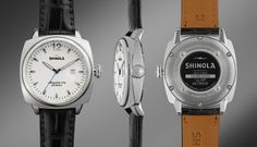 THE BRAKEMAN 40mm Black Alligator Leather Watch | Shinola®