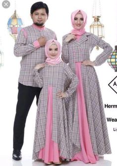 Gamis keluarga Batik Fashion, Abaya Fashion, Women's Fashion Dresses, Trendy Baby Girl Clothes, Baby Girl Dresses, Clothes For Women, Designs For Dresses, Dress Neck Designs, Islamic Fashion