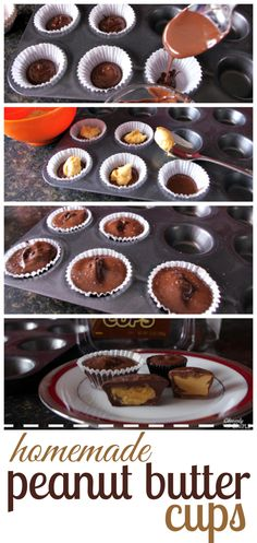 Here's how to make easy homemade peanut butter cups! You won't believe how easy these are to make! What a treat!