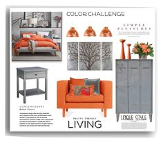 """""""Color Challenge"""" by terry-tlc ❤ liked on Polyvore featuring interior, interiors, interior design, home, home decor, interior decorating, Threshold, Blu Dot, M&Co and Superliving"""