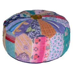 Holy cow I want this!!! -=>    Kantha Patchwork Pouf now featured on Fab.
