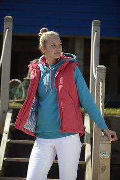 TOGGI Spring Summer 2013... Model wears Sicily Gilet, Blanche Hoodie, Tilly Polo Shirt