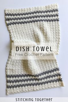 Cute crochet country dish towel adds great modern farmhouse style to your kitchen, or you could use them as hand towels in the bathroom. Pair them with the crochet country dishcloth set and you… Crochet Dish Towels, Crochet Kitchen Towels, Crochet Dishcloths, Knit Or Crochet, Free Crochet, Things To Crochet, Diy Crochet Gifts, Crochet Projects, Farmhouse Style