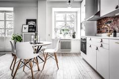 This is a very good kitchen idea for people who like white!!
