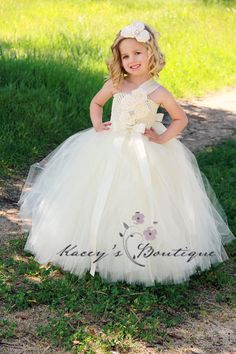 Flower Girl Dress  Flower Girl Tutu Dress NB  7 by KaceysBoutique, $105.00