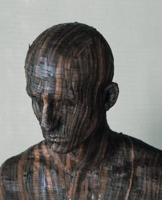 Photographic Art by Levi van Veluw Illustrations, Illustration Art, Facial Recognition, Art Plastique, Wood Sculpture, Photo Manipulation, Installation Art, Art Installations, Wood Art