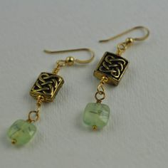 "Jewelry for St. Patrick's Day  ""Grainne"" earrings"