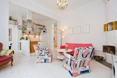 Bright-Apartment-in-Stockholm...love,\love, love the  white painted plank floor!