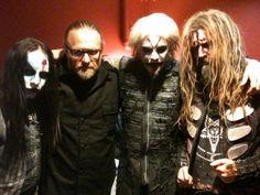 slipknots Joey Jordison & Shawn Crahan with john 5 & Rob Zombie