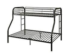 Amazon.com: ACME Furniture 02052BK Tritan Bunk Bed, Twin X-Large/Queen, Black: Kitchen & Dining