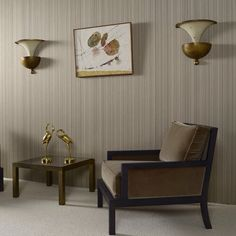"""The name comes from the Italian word """"broccato"""", meaning """"embossed cloth"""". Evergreen classic designs like stripes and patterns alternate with art deco in timeless simli plain. All this and more in the stunning Brocades collection. Floor Plan Drawing, Faux Painting, Window Treatments, Dining Chairs, Sweet Home, Art Deco, Wall Decor, Flooring, Interior Design"""