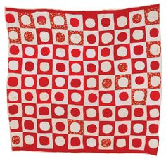 """Another Gee's Bend Quilt - I wish I could work out how this was constructed.  Maker: Lucy T. Pettway born 1911 """"Snowball"""" (Quiltmaker's name) Circa 1950 Cotton, corduroy, cotton sacking"""