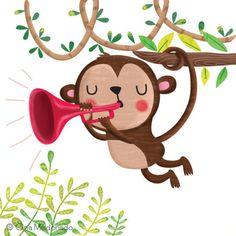 Gina Lorena Maldonado - Monkey Playing Trumpet - GM