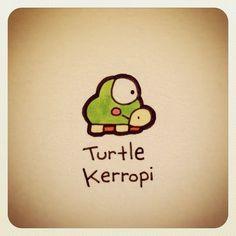Cute Turtle Drawings, Cute Animal Drawings, Kawaii Drawings, Easy Drawings, Cartoon Drawings, Sweet Turtles, Cute Turtles, Baby Turtles, Tiny Turtle