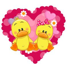 Illustration about Two Ducks on a background of heart. Illustration of decoration, beautiful, cute - 52352803 Baby Cartoon, Cartoon Pics, Cute Cartoon, Cartoon Giraffe, Blue Nose Friends, Cute Friends, Background Heart, Duck Pictures, Duck Art