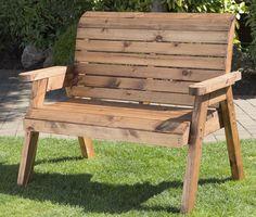 Traditional 2 Seater Garden Bench