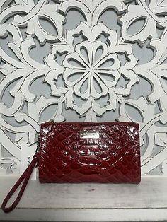 Brahmin Millie Clutch Wristlet Scarlet Vardo Leather | eBay Brahmin Handbags, Scarlet, Handmade Items, Leather, Ebay, Color, Style, Swag, Brahmin Bags