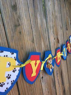 Paw Patrol Birthday Decorations, Paw Patrol Birthday Girl, Dog Birthday, 3rd Birthday Parties, Paw Patrol Cake, Paw Patrol Party, Paw Patrol Balloons, Banner, Pow