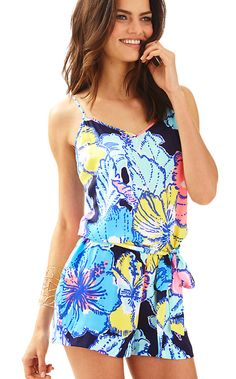 5ea8707cf29 Deanna Tank Top Romper - Lilly Pulitzer Spirit Of Summer