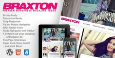 Braxton - новости / блог / журнал WordPress шаблон Last update: Version – July 2018 Braxton is the premier magazine theme that combines both form and function into one comprehensive Wordpress theme. This sleek, modern theme is retina-read.