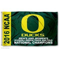 Oregon Ducks Indoor Track and Field Champs Flag measures 3x5 feet, is made of 100% polyester, offers quadruple stitched flyends, has two metal grommets, and...