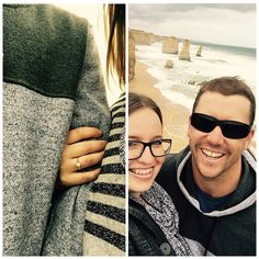 Travelled the Great Ocean Road to celebrate our 8 year anniversary and he pulls this out of his hat of tricks!  #greatoceanroad #sosurprised #balledmyeyesout #8yearsandcounting #engaged #warrnambool #12apostles  #apollobay #lorne #torquay #roadtrip #anniversary by sharnnameg http://ift.tt/1ijk11S