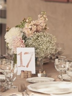 Wedding Ideas: Mix It up with a Baby's Breath Centerpiece To see more: http://www.modwedding.com/wedding-ideas-mix-it-up-with-a-babys-breath-centerpiece/