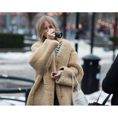 Love this Teddy Bear coat! --Stockholm Fashion Week By Stockholm Streetstyle