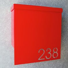 Custom House Number Mailbox No. 1310 Drop Front in Powder Coated Aluminum Metal Wall Sculpture, Wall Sculptures, Contemporary Mailboxes, Modern Mailbox, Front Door Makeover, Front Door Entrance, Network Solutions, Address Plaque, Easy Wall