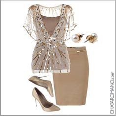 CHATA'S DAILY TIP: Stone is a must-have basic colour this season – it can easily replace black. One tip though: Don't wear stone from head to toe as it can be a bit bland; co-ordinate it with another basic colour for overall elegance and add a bit of sparkle for overall yumminess. COPY CREDIT: Chata Romano http://chataromano.com/consultant/chata-romano/ IMAGE CREDIT: Style & Fashion's Facebook page  #style #wardrobe #classic