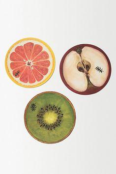 Fruit Cocktail Coasters - anthropologie.eu
