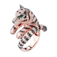 Bagha Pink Gold Ring, a Maison Boucheron Jewelry creation.