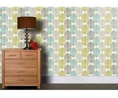 New Arthouse Retro Leaf Designer Motif Wallpaper in Teal and Green - 408207 | eBay