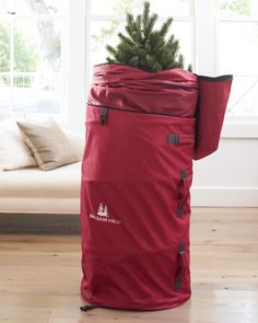 Balsam Hill's Expandable Topiary Storage Bag offers ample storage space for your topiary tree.