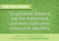 Every cloth diaper you change makes a difference.