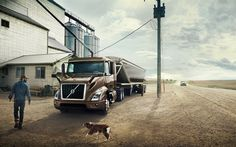 Download wallpapers Volvo VNR, 4k, semi truck, 2017 trucks, factory, new Volvo VNR, Volvo