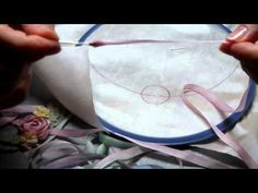 Silk Ribbon Embroidery Basics, Threading the silk, Design,and Rose-1/1